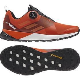 adidas TERREX Two Boa Buty do biegania Mężczyźni pomarańczowy